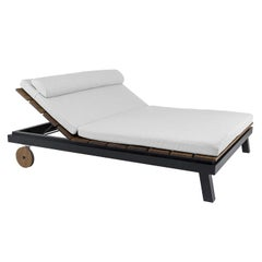 Tecla Black Double Chaise Longue by Braid Outdoor