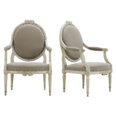 Pair of 18th Century French Painted Chairs