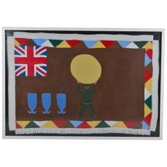 Ghanaian Fante Flag Southern Ghana, circa 20th Century
