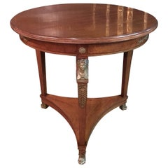 Original Empire Table circa 1860-1880 Mahogany