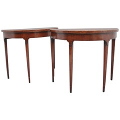 Pair of early 20th Century mahogany console tables in the Georgian style