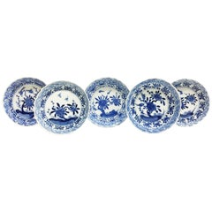 Antique Chinese Export Porcelain Plates, Kangxi, 1662-1722