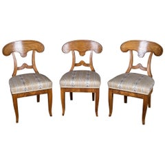 Three Beautiful Biedermeier Chairs Vienna Cherry, circa 1820