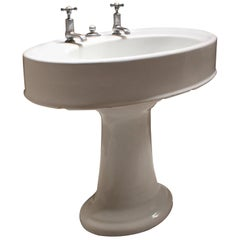 Large English Antique Wash Basin by Dent & Hellyer, London, 1920s