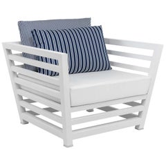 Tecla White Armchair by Braid Outdoor