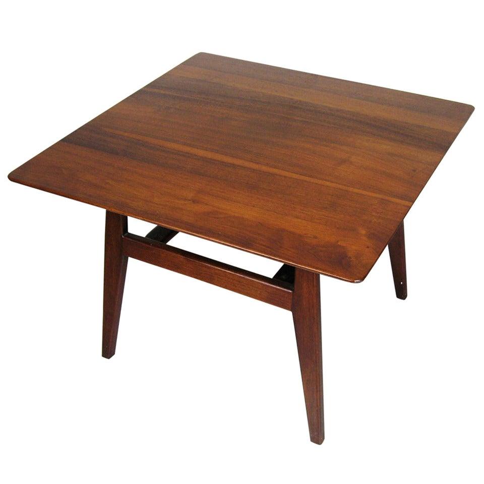 Jens Risom Walnut Coffee Table, Mid century modern