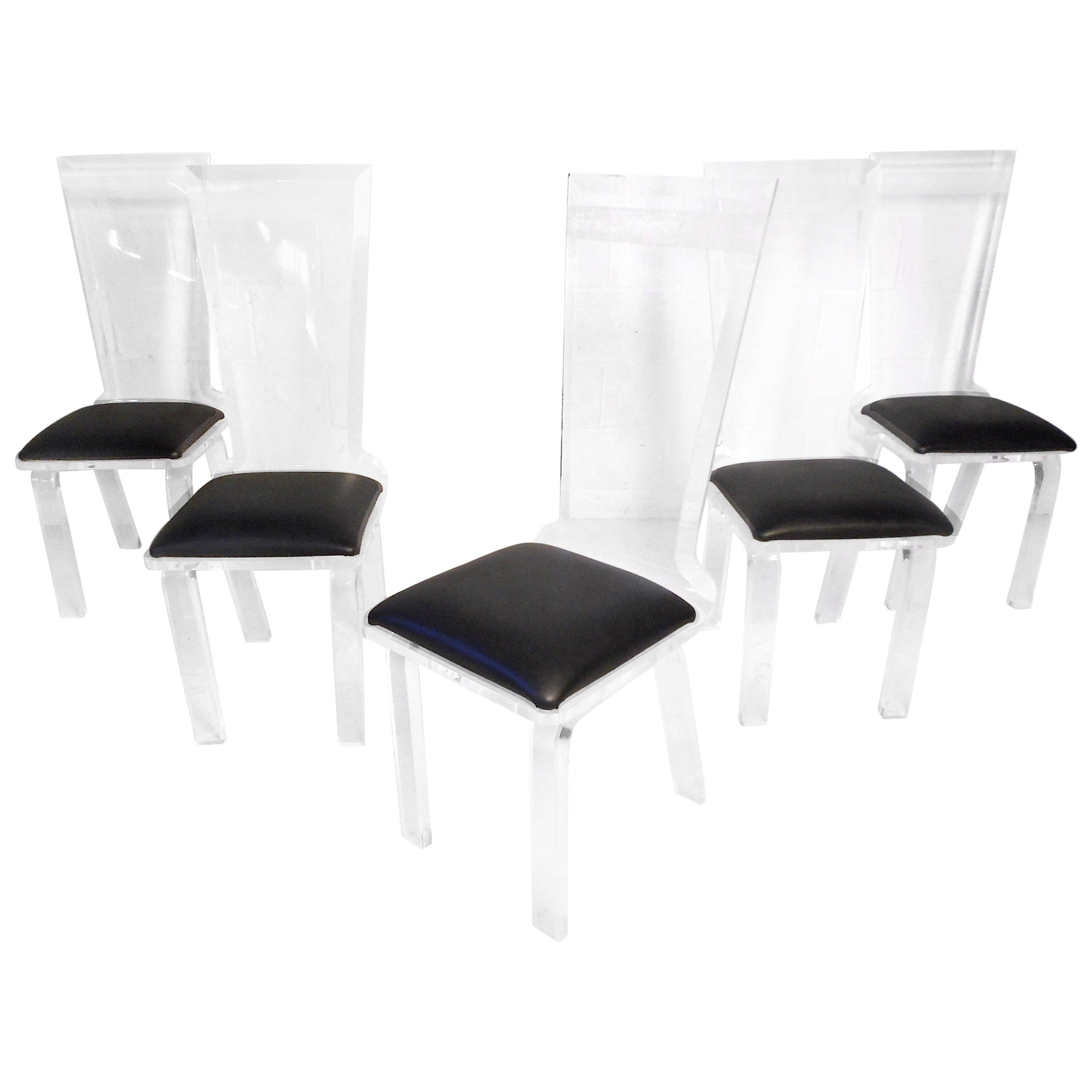 Set of 6 Midcentury Lucite Dining Chairs