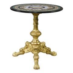 Important Rare 19th Century Italian Micromosaic Table by Cesare Roccheggiani