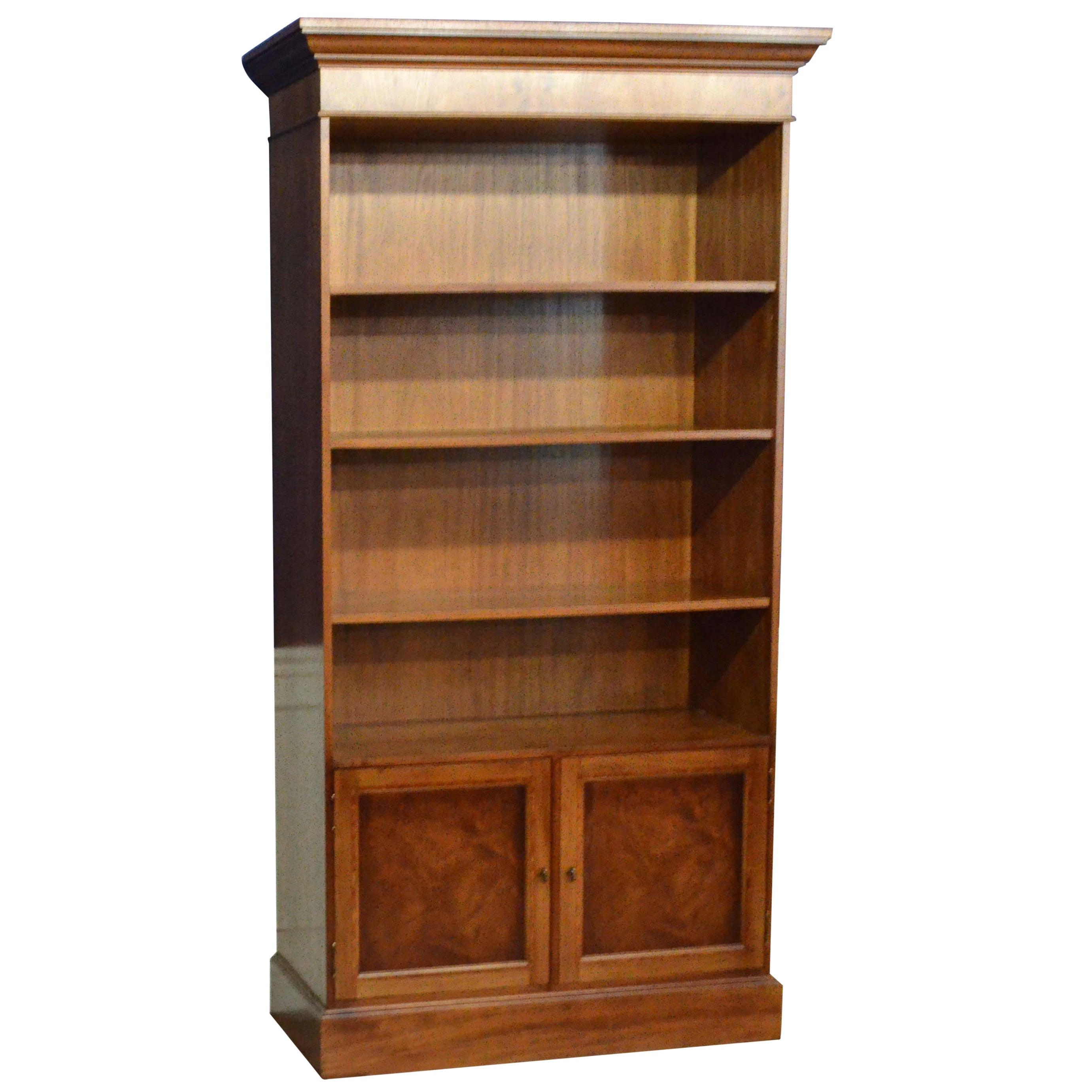 Custom Mahogany Georgian Style Bookcase by Leighton Hall