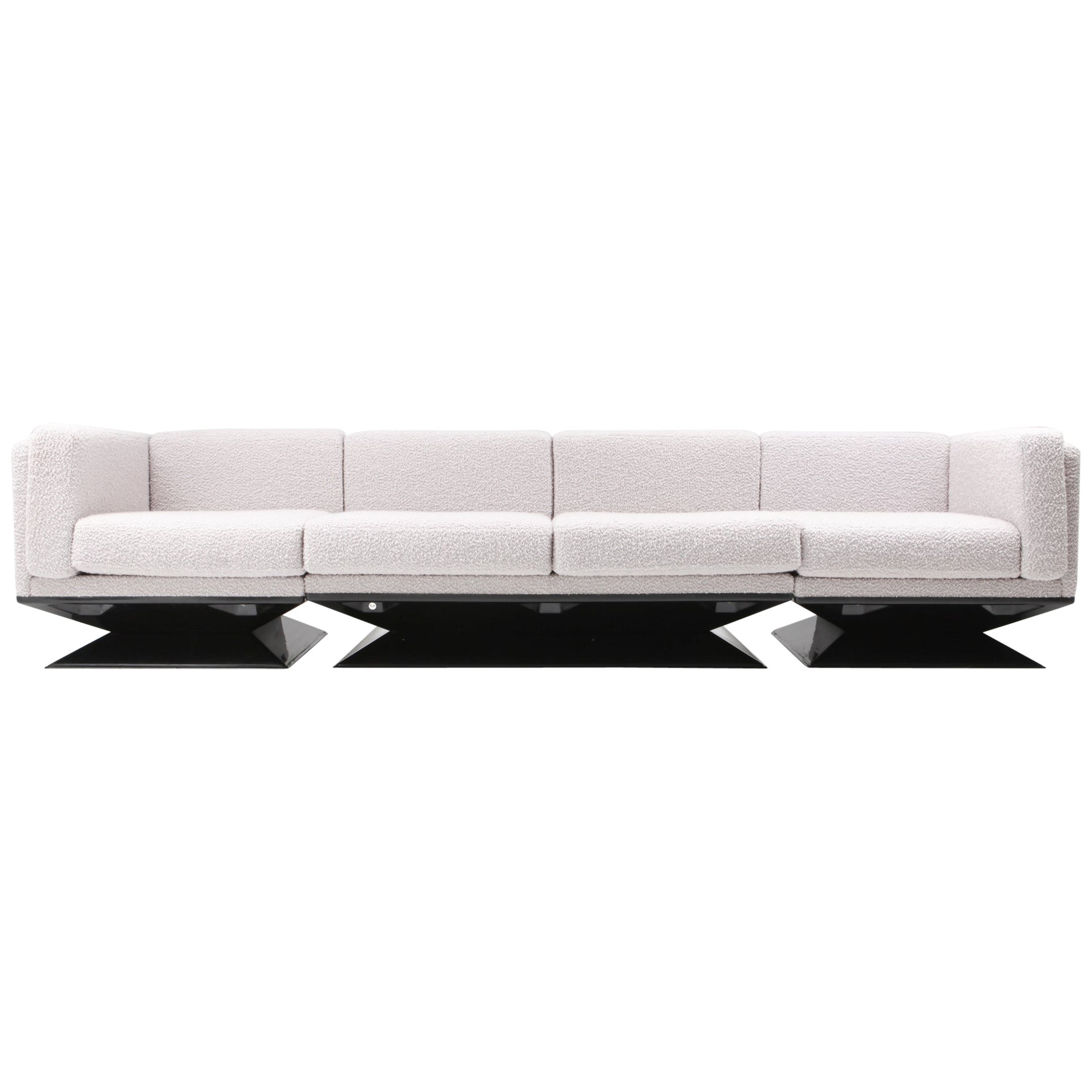 MIM Roma Sectional Sofa in Bouclé Wool by Luigi Pellegrin
