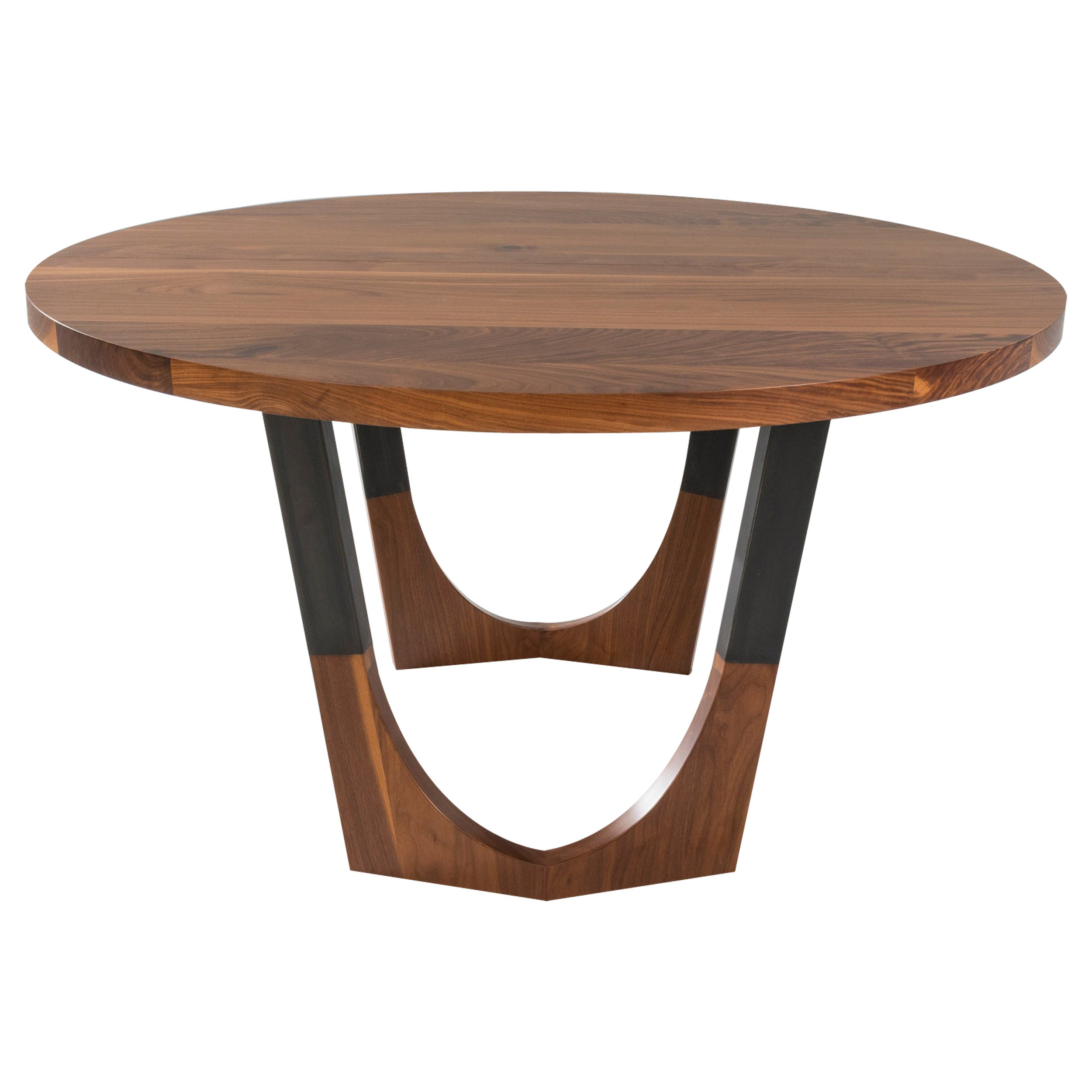 """Circular Walnut Expanding Dining Table """"Concord Dining Table"""""""