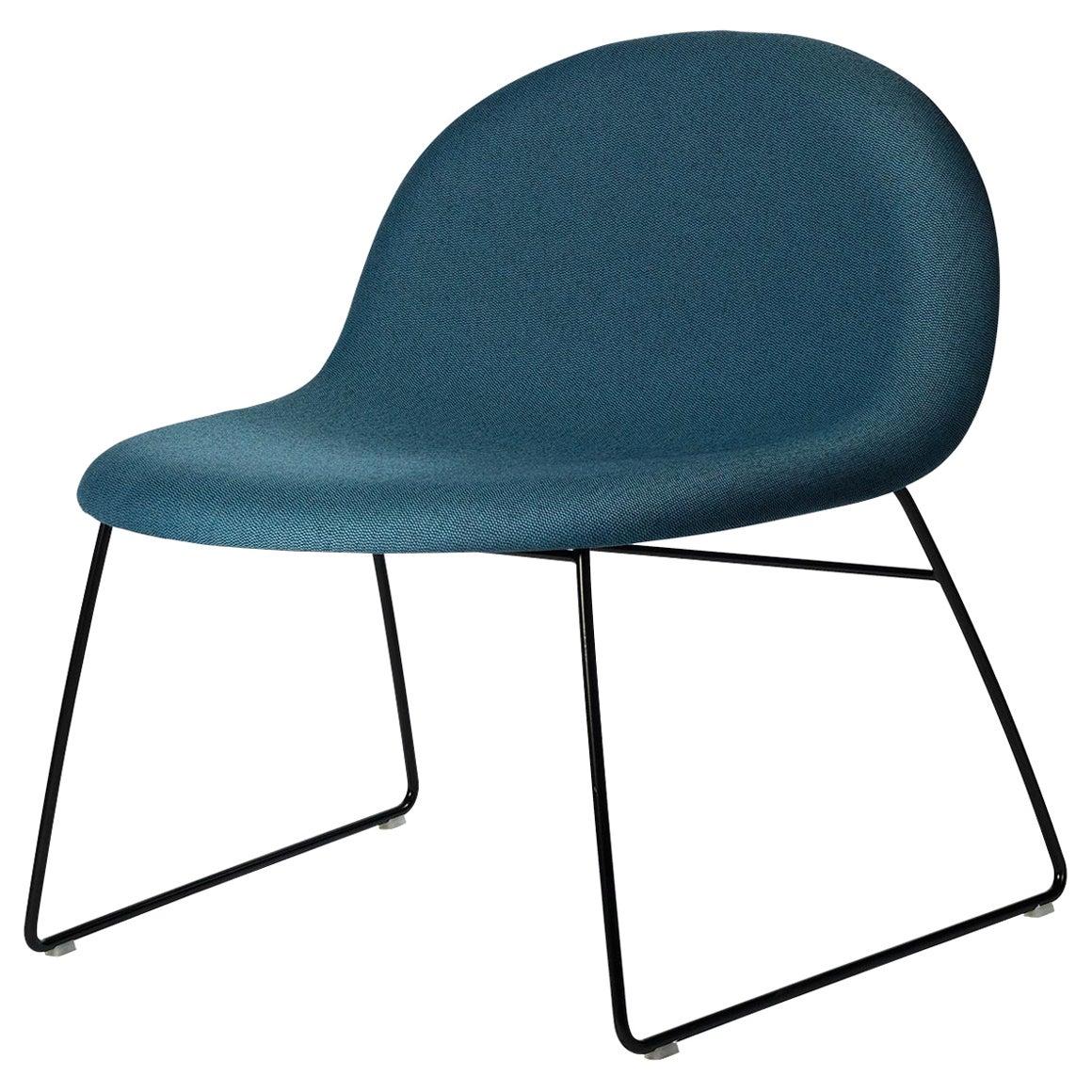 3D Lounge Chair, Un-Upholstered, Sledge Base, Black Semi Matt