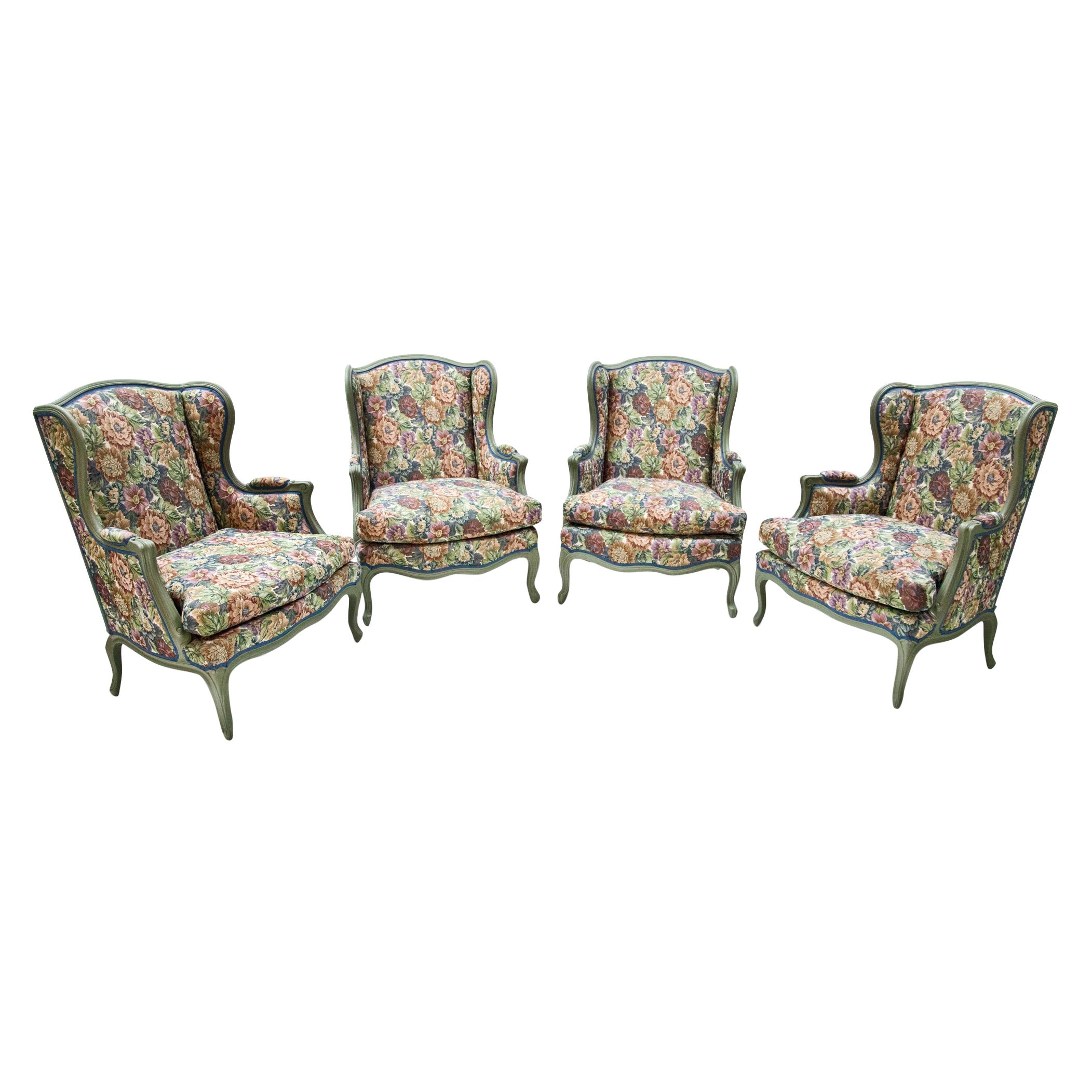 Louis XV-Style Armchairs, Early 20th Century