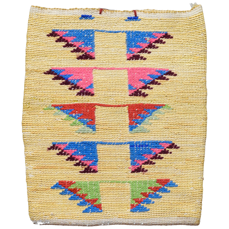 Two Sided Nez Perce Cornhusk Bag