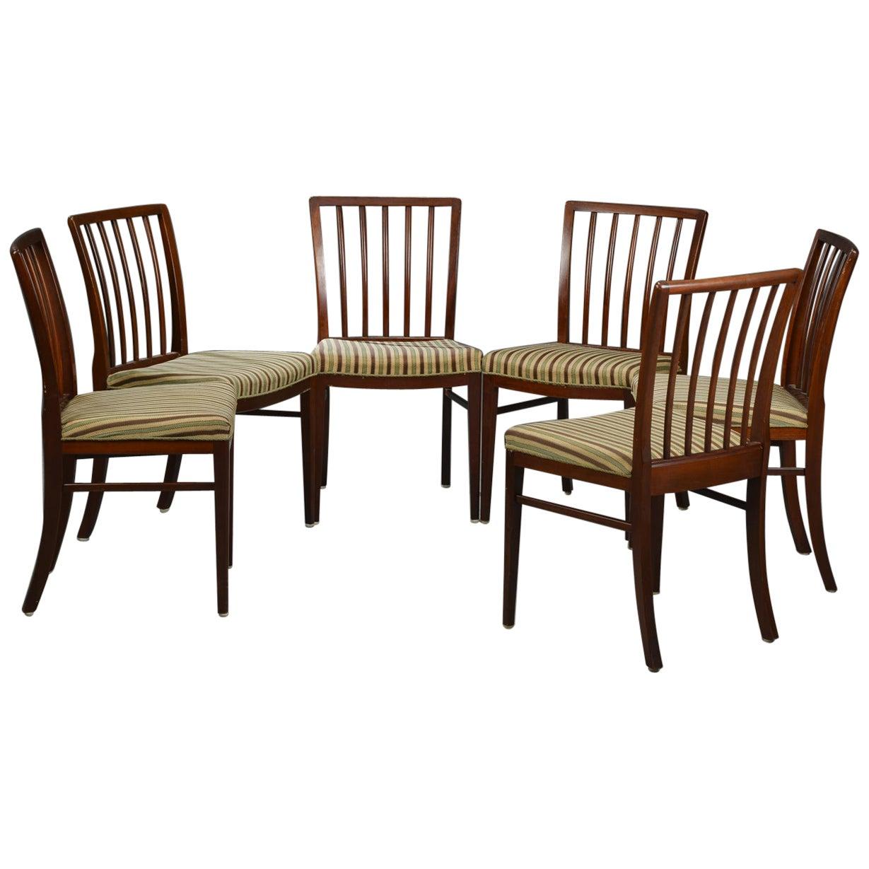Six Danish Modern Dining Chairs
