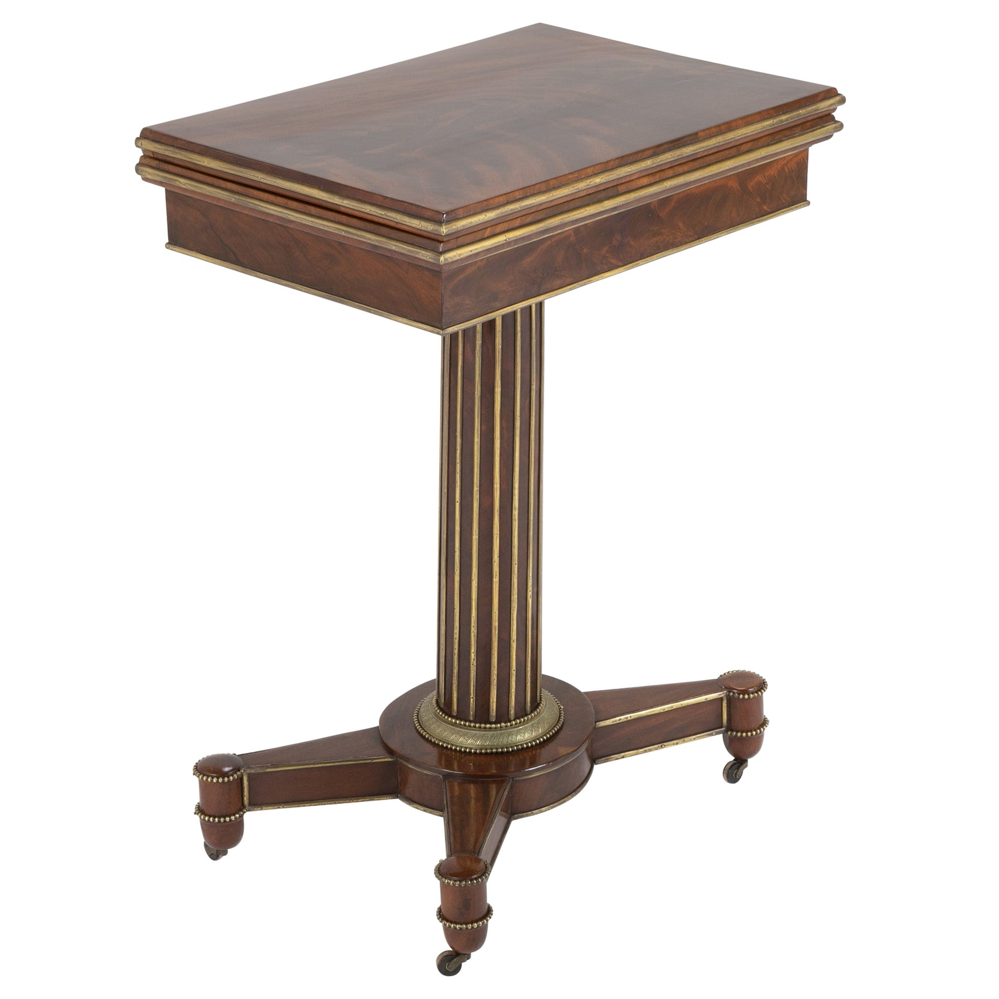 Baltic Mahogany and Brass Mounted Games Table