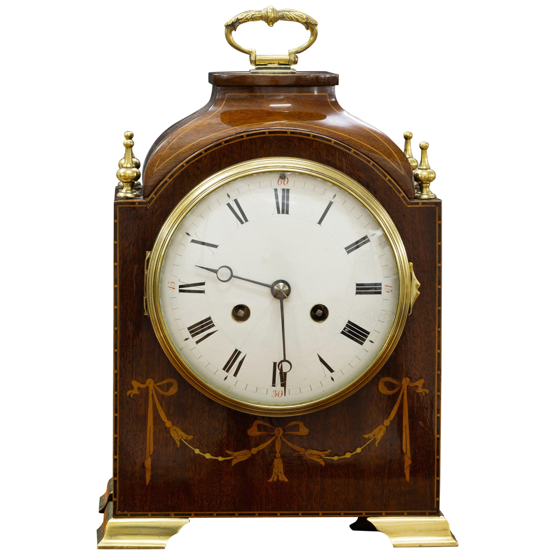 Edwardian Mahogany Mantel Clock by S.Marti