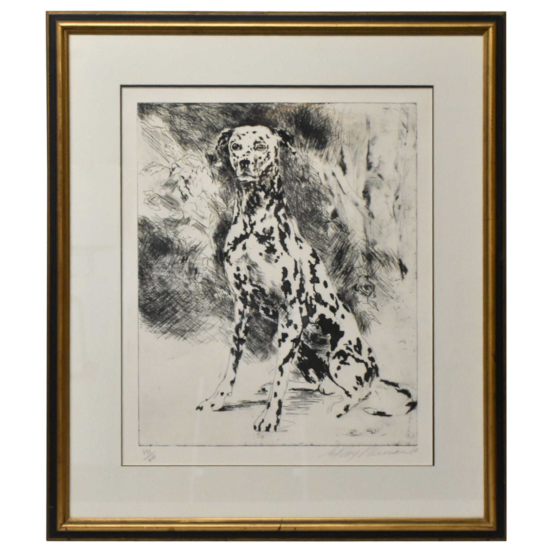 Leroy Neiman Signed & Numbered Limited Edition Etching 191/250 Dalmatian