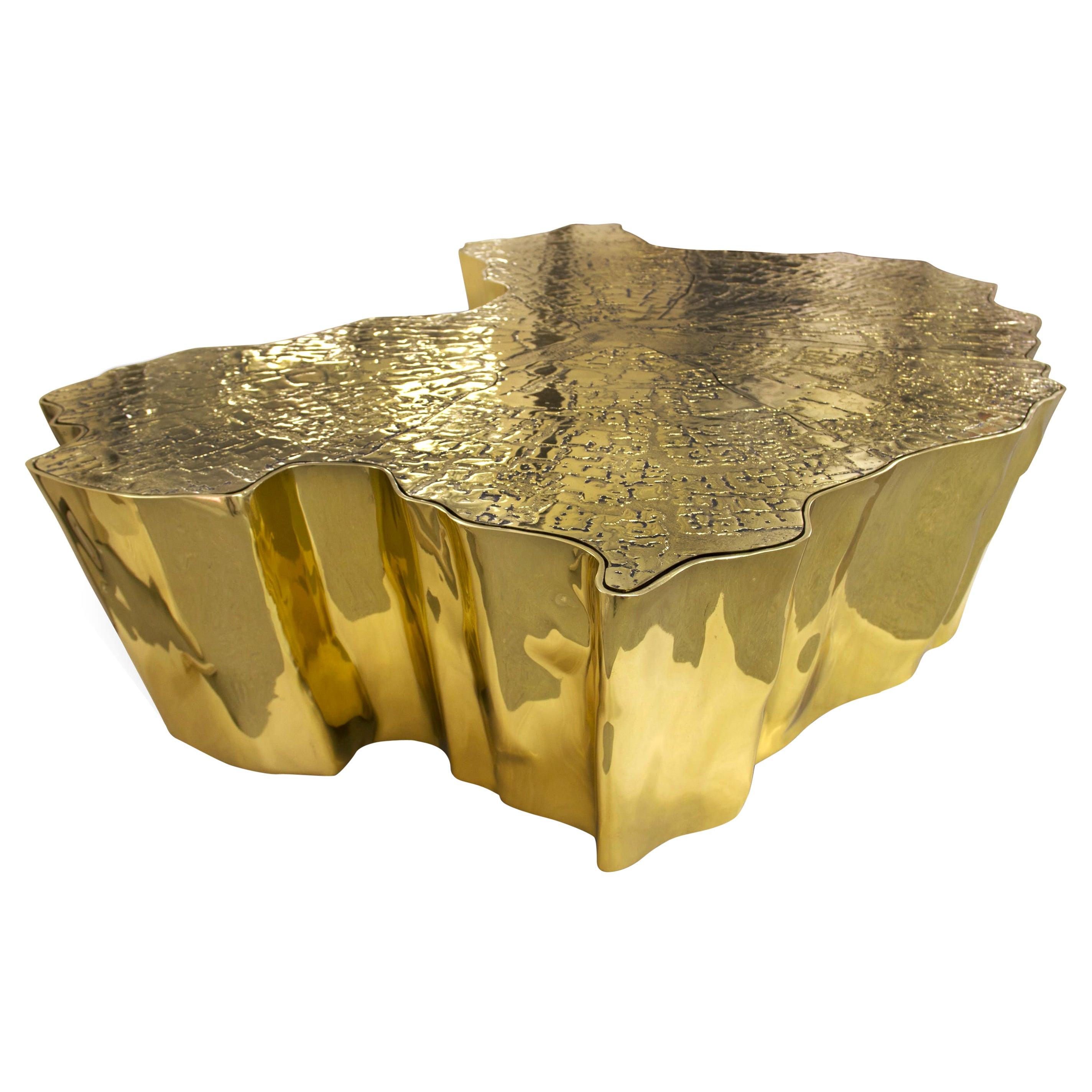 Eden Big Center Table in Brass