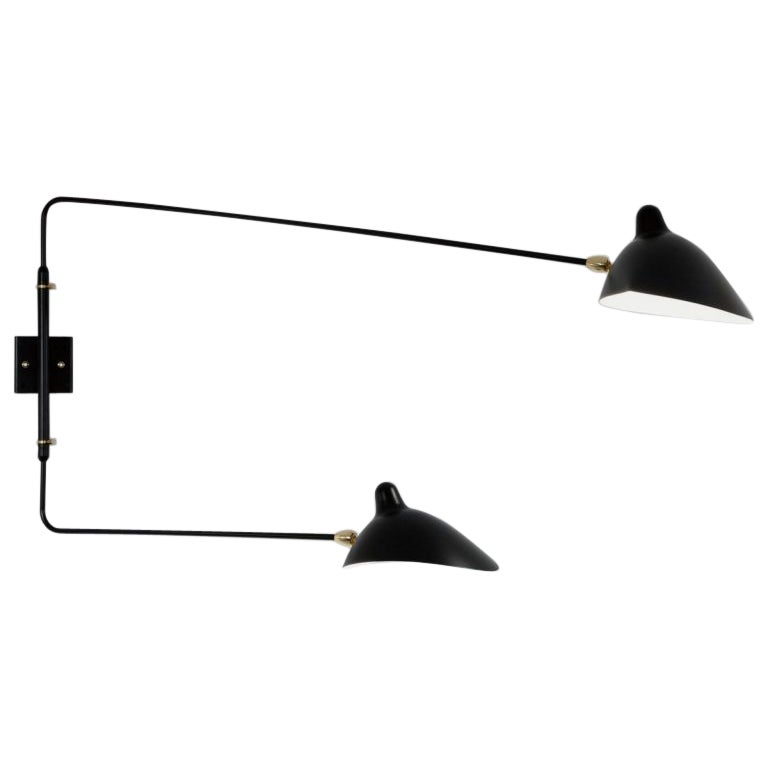 Serge Mouille Two-Arm Rotating Sconce