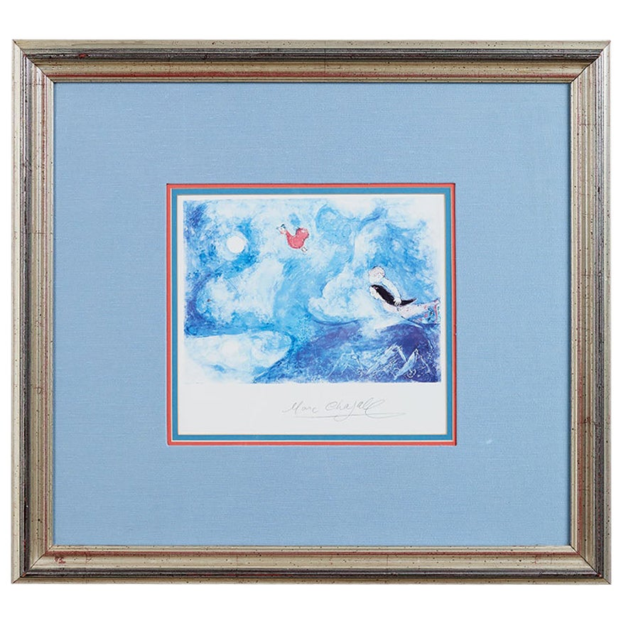 Midcentury Framed Lithograph after Marc Chagall