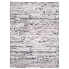 21st Century Contemporary Textured High Low Wool Rug