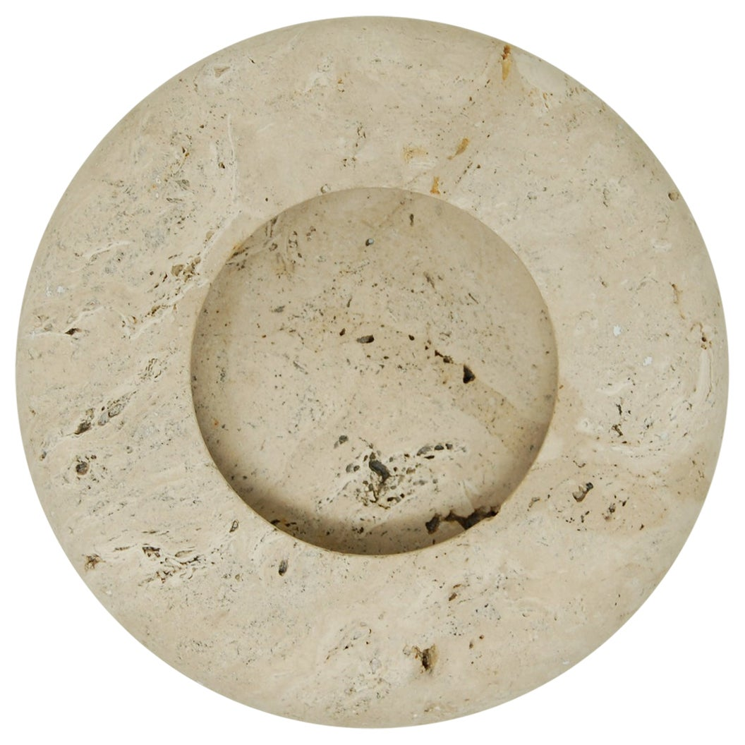 Up & Up Travertine Bowl by Egidio Di Rosa and Pier Alessandro Giusti