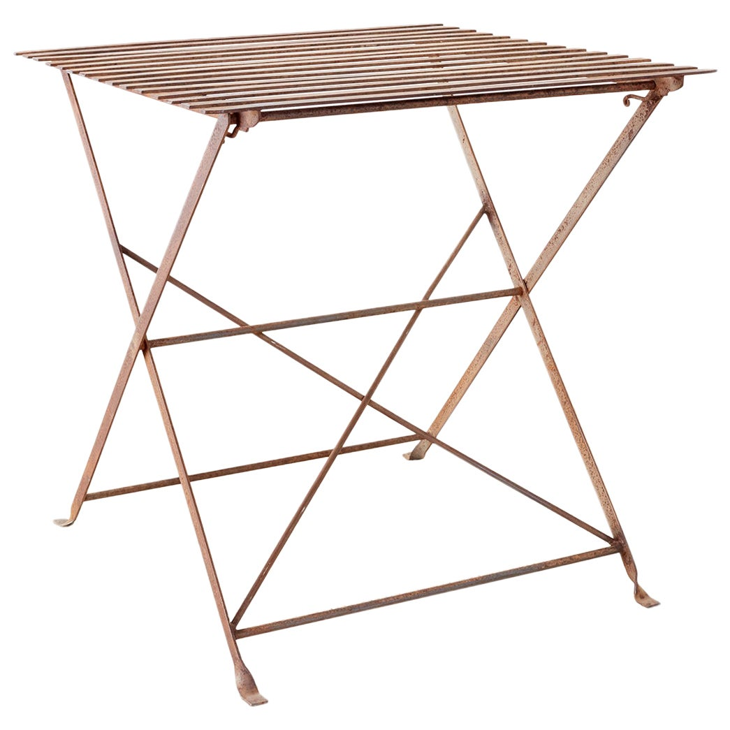 French Folding Iron Garden Table Bistro Dining Table