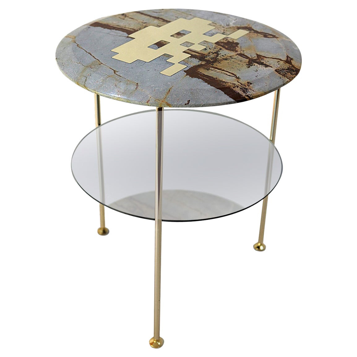 Tabù Blue Mare Marble BedBoy Side Table
