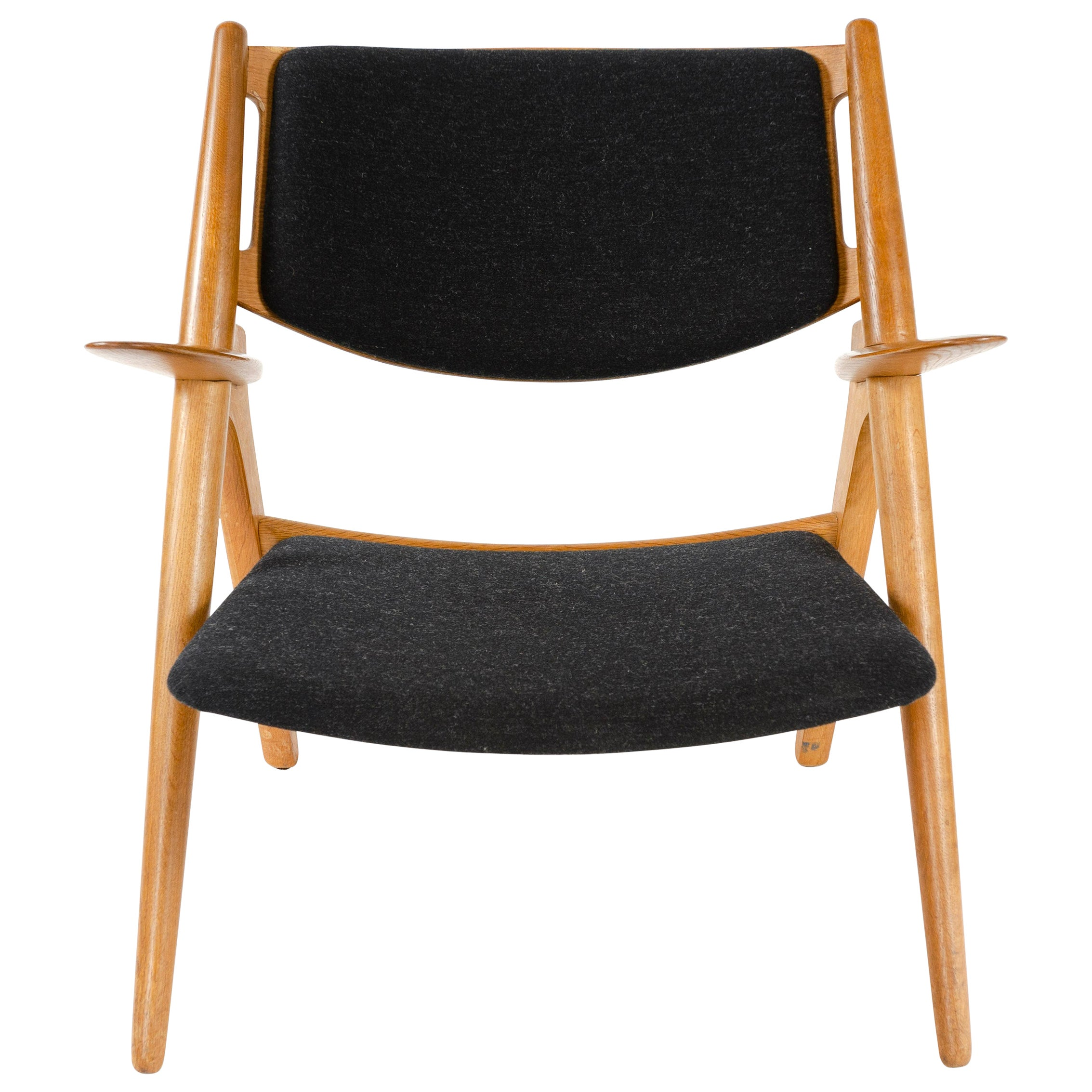 Oak Sawbuck Lounge Chair by Hans Wegner for Carl Hansen & Son