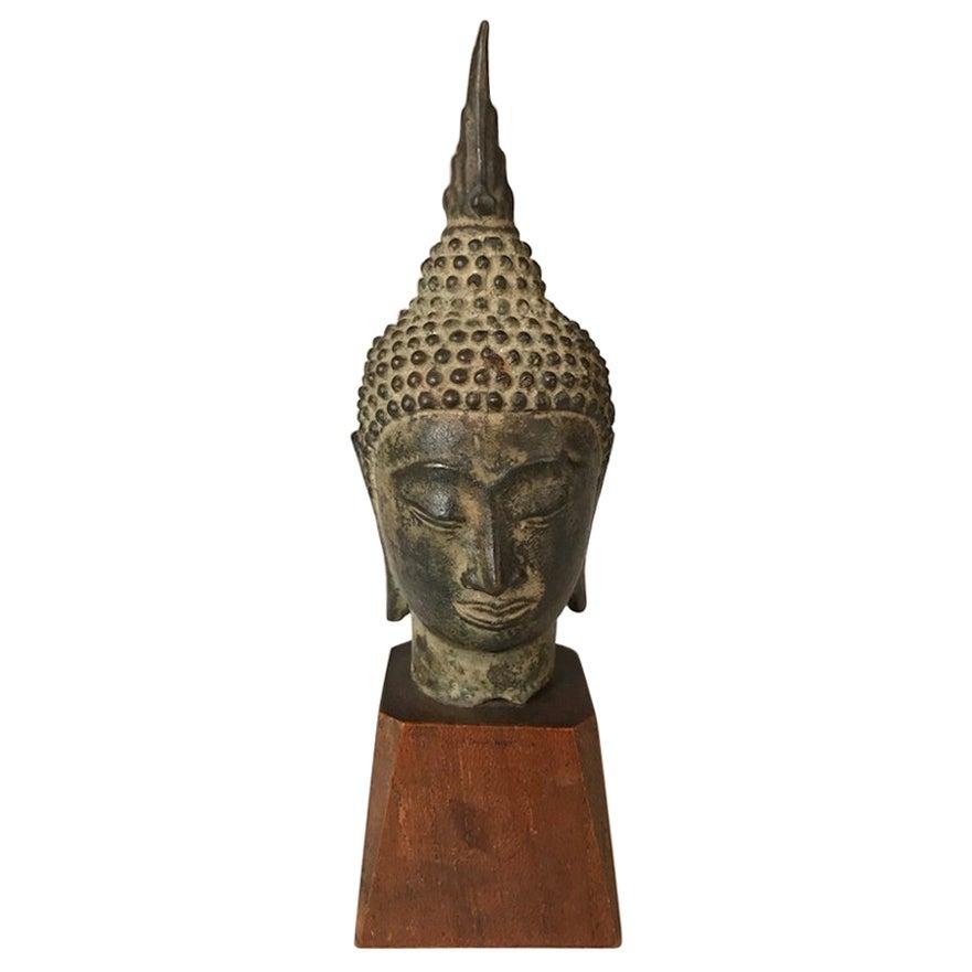17th Century Thai Bronze Head of the Buddha