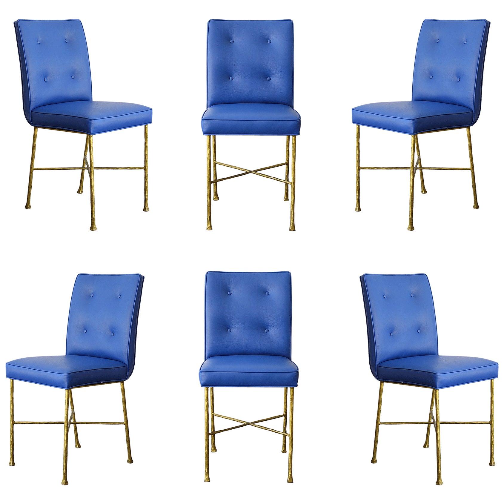 Garouste & Bonetti Chairs, Rare Set of 6 Chairs