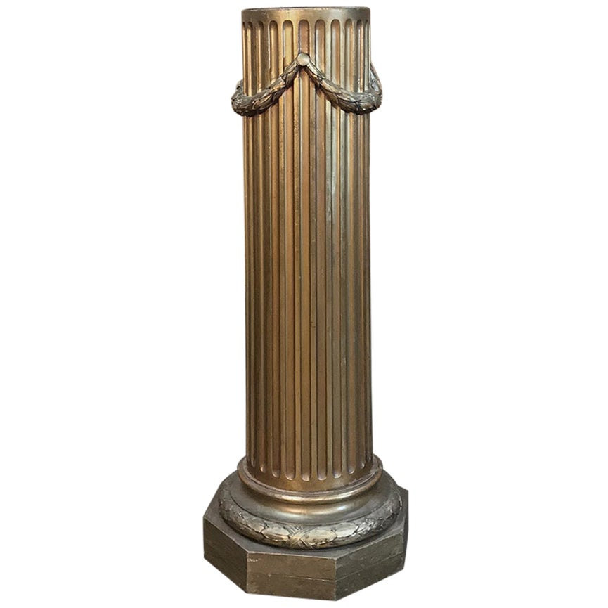 19th Century French Louis XVI Neoclassical Giltwood Pedestal