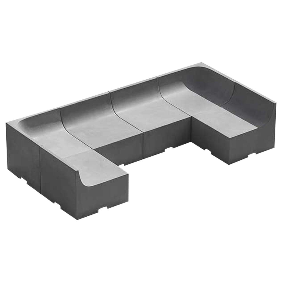 'SHI' Modular Bench / Sofa Made of Concrete