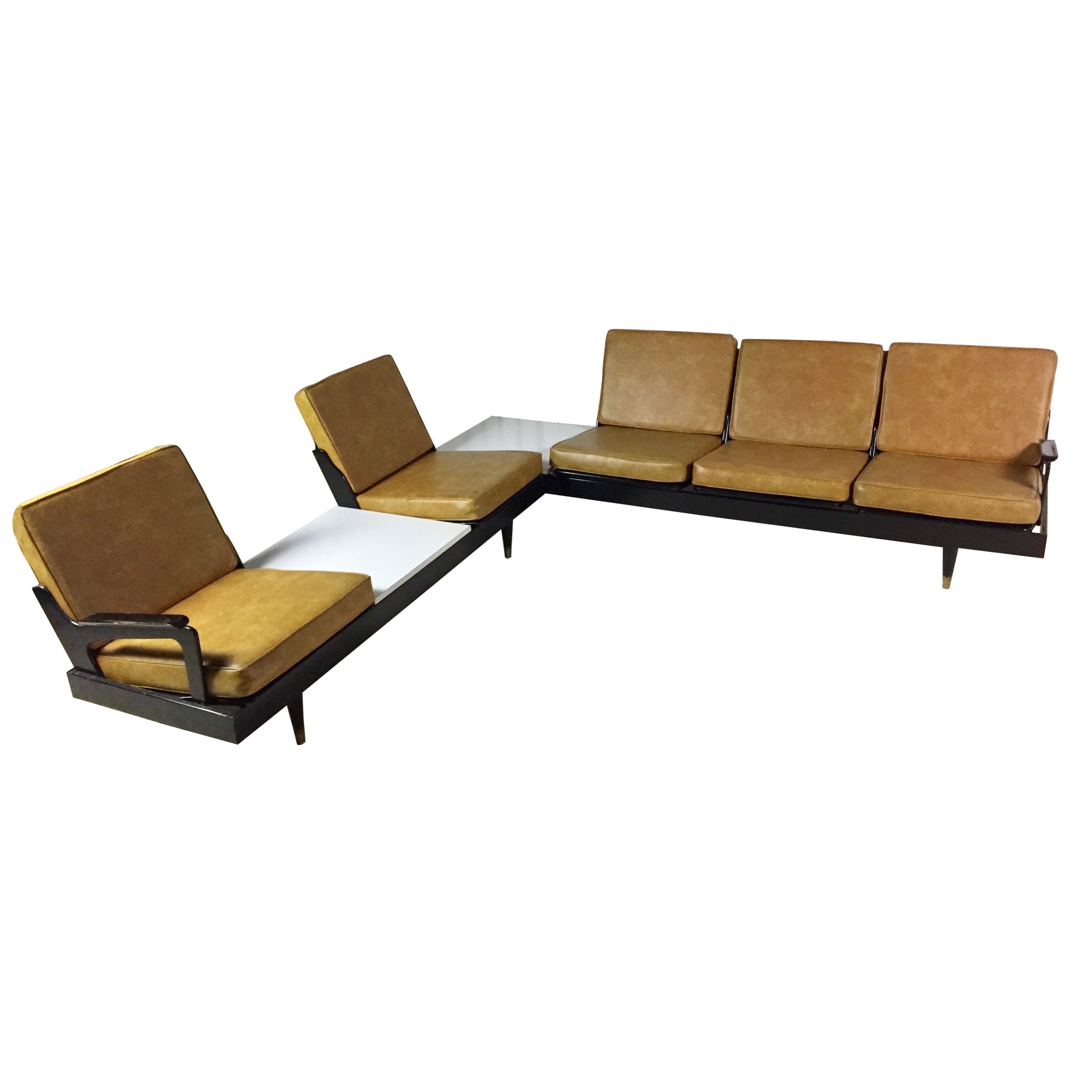 Adrian Pearsall Craft Associates Signed L Shaped Midcentury Sectional Sofa