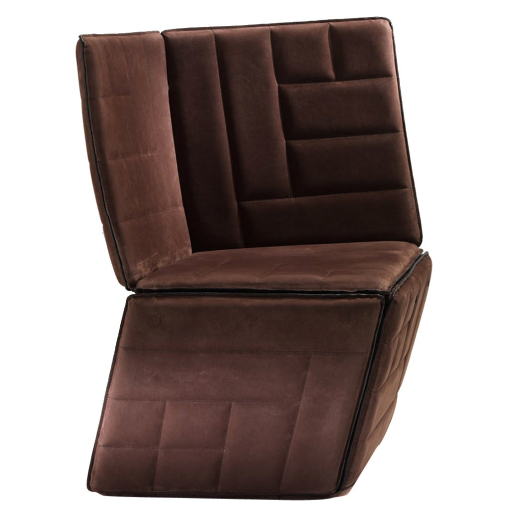 Parallel Low Armchair in Leather