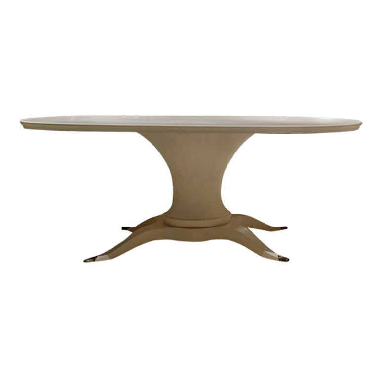 Lui Oval Dining Table in Natural Walnut Finish