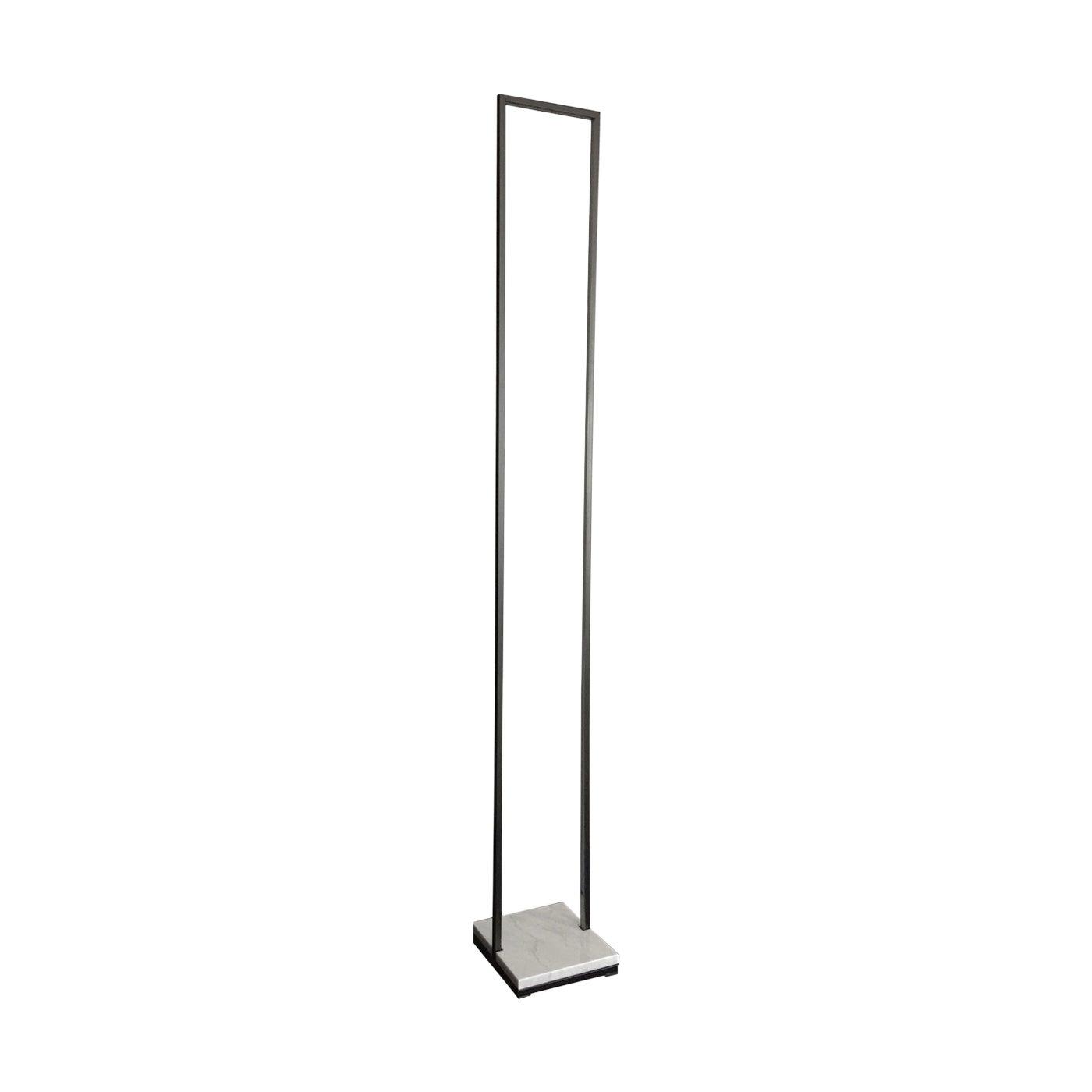 Floorframe Floor Lamp in Carrara Marble and Iron