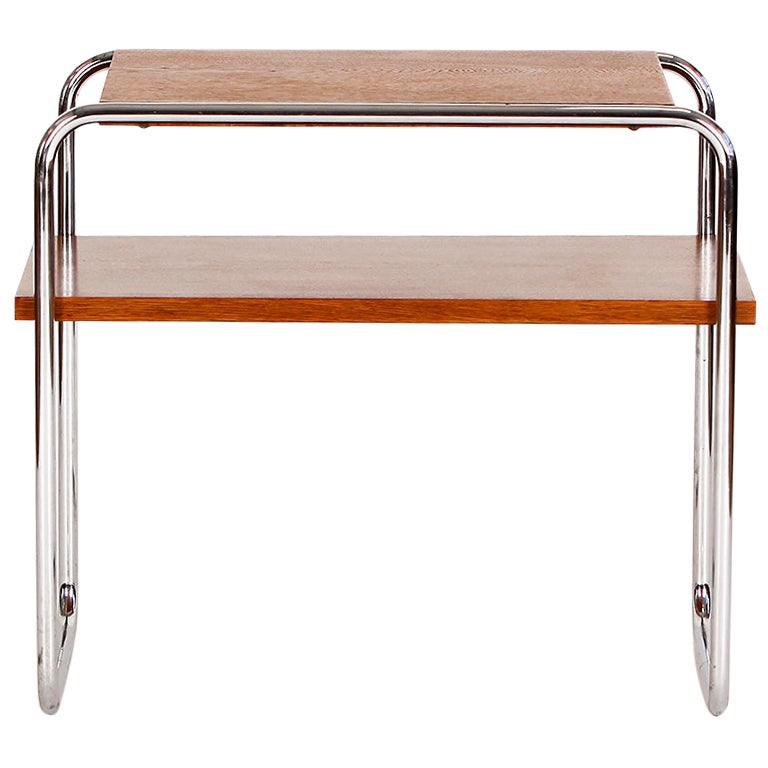 Bauhaus Chrome Steel Side Table, 1930s