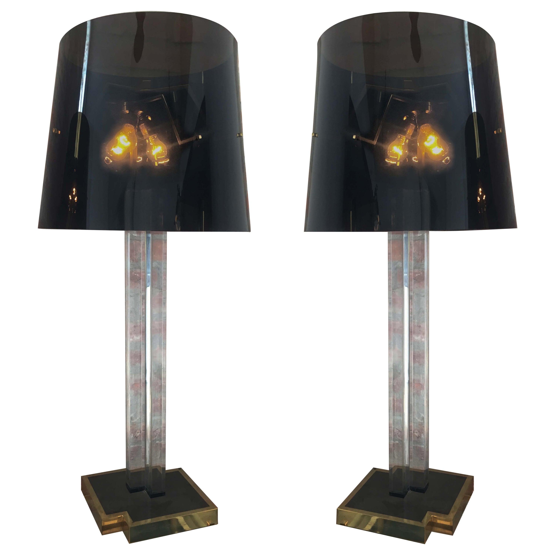 Pair Italian Floor Lamps by Romeo Rega, 1970