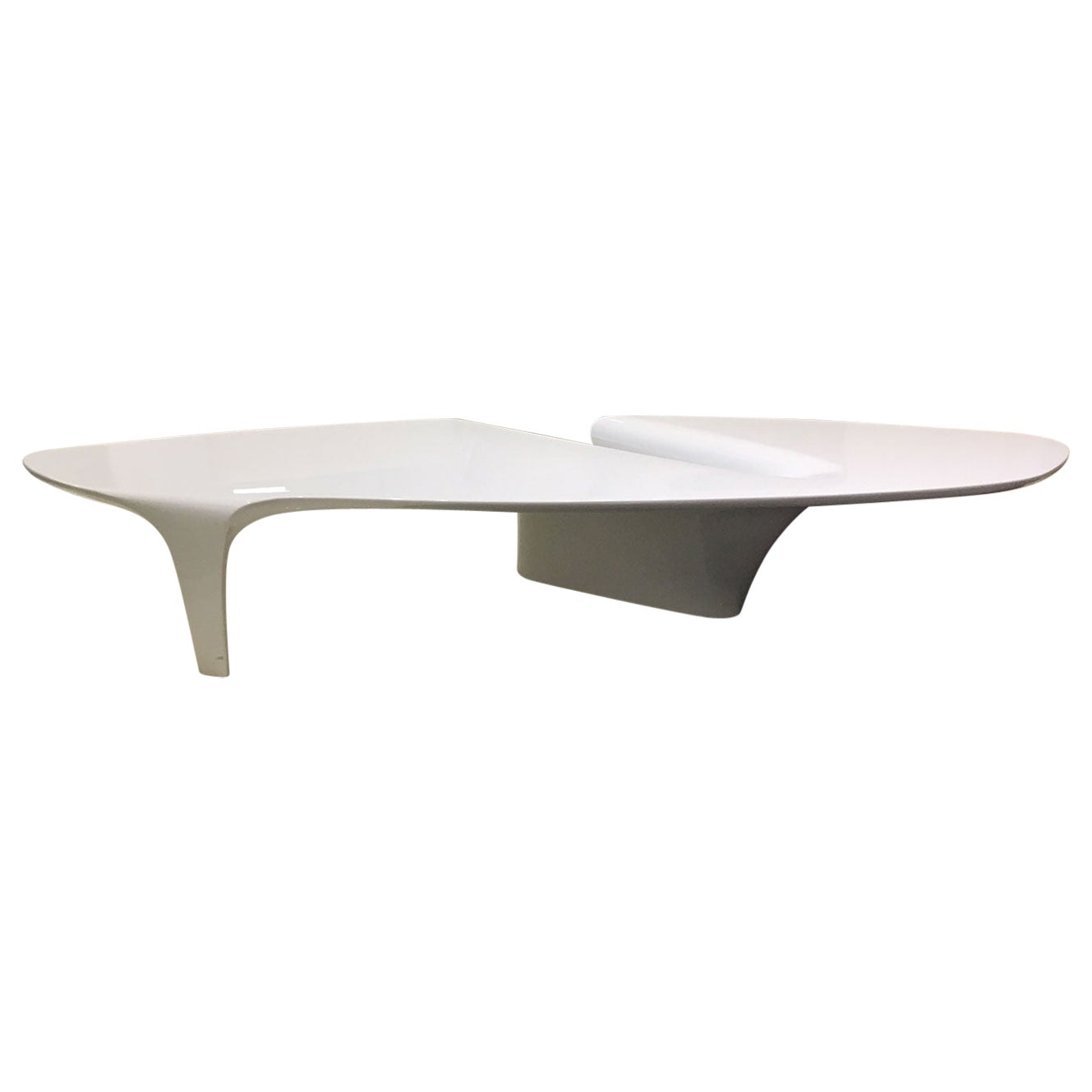 Contemporary White Lacquered Coffee Table by Fredrikson Stallard for Driade