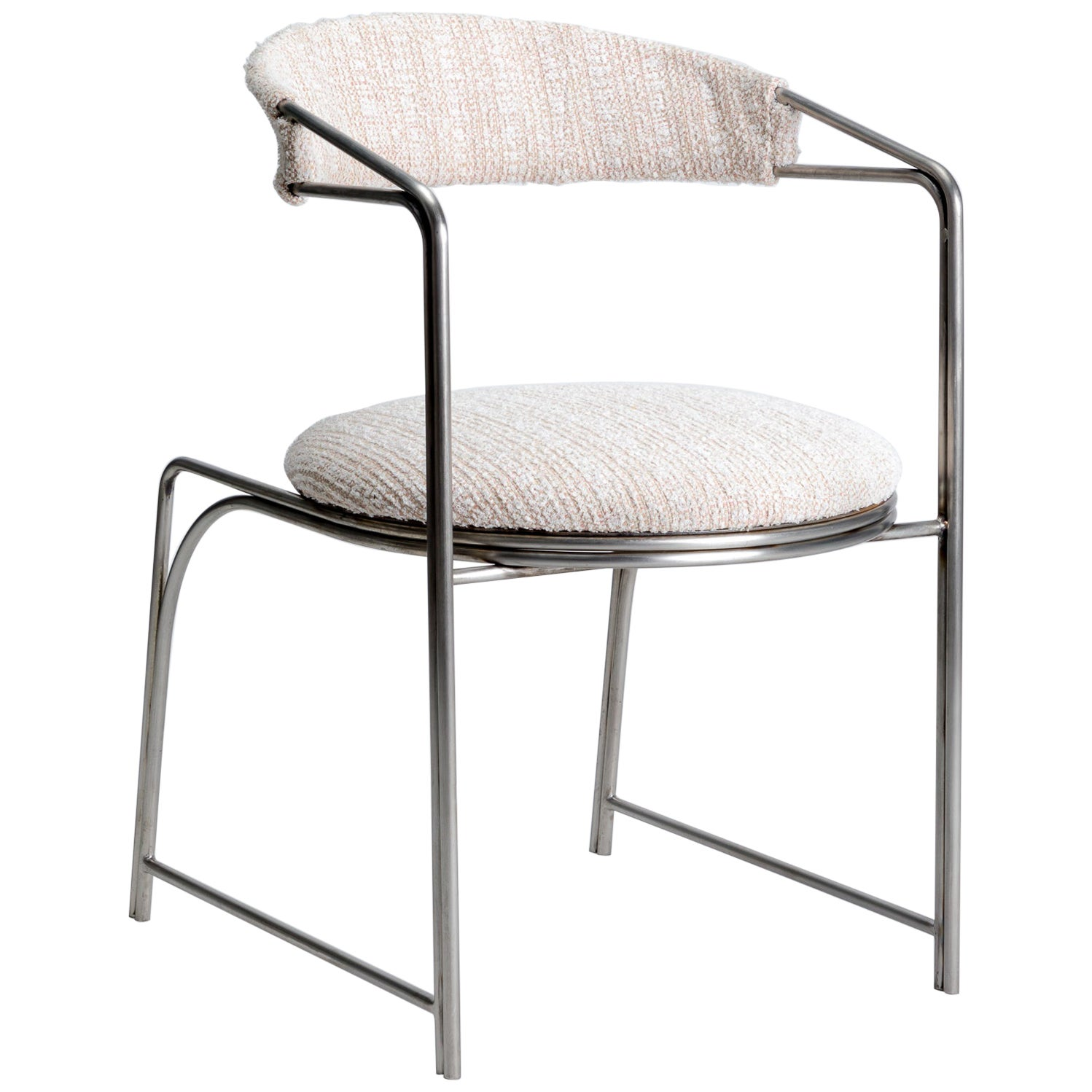 Bacall, Indoor/Outdoor Polished Stainless Steel Dining Chair by Laun