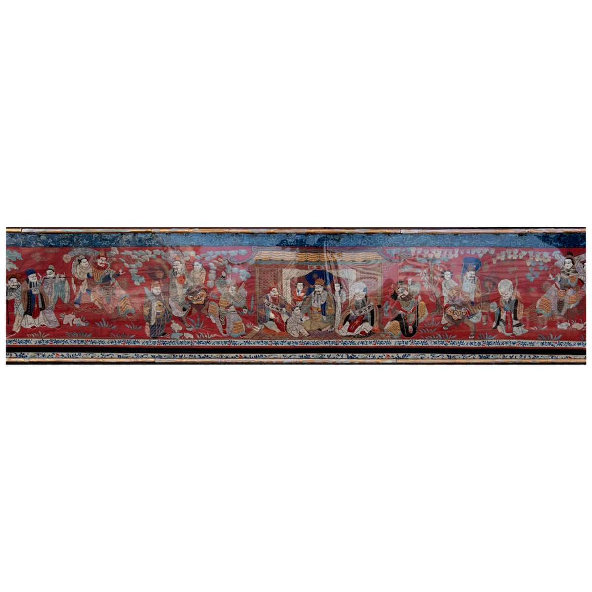 Monumental Chinese Embroidered Silk Tapestry, circa 1890