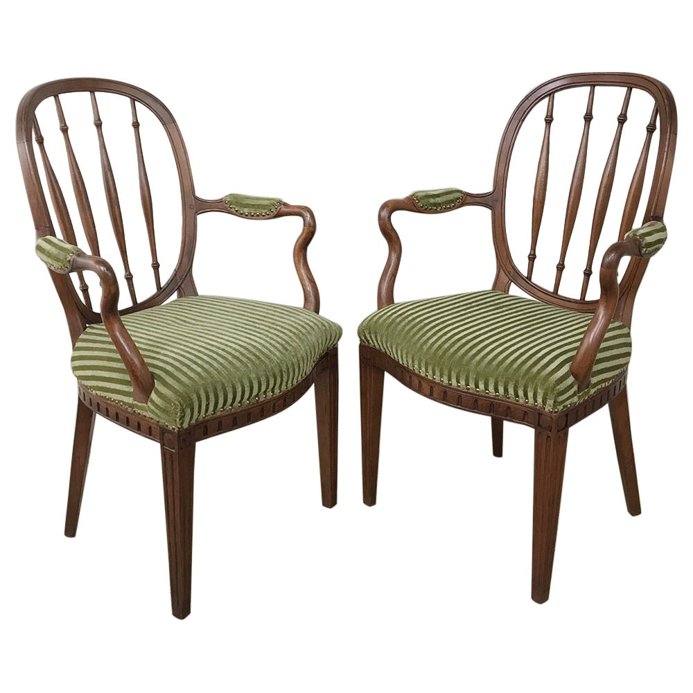Pair of 18th Century Swedish Armchairs