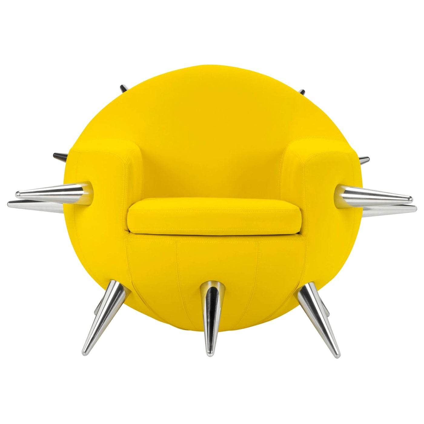 Bomb Yellow Armchair by Simone Micheli