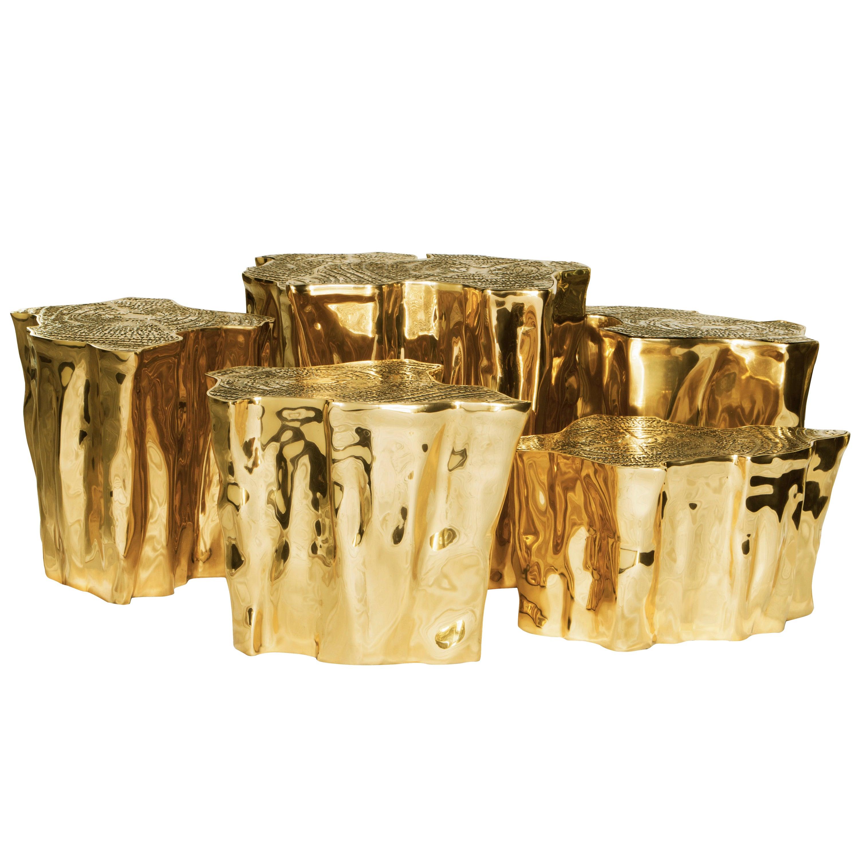 Eden Series Center Table in Brass 'Set of 8'