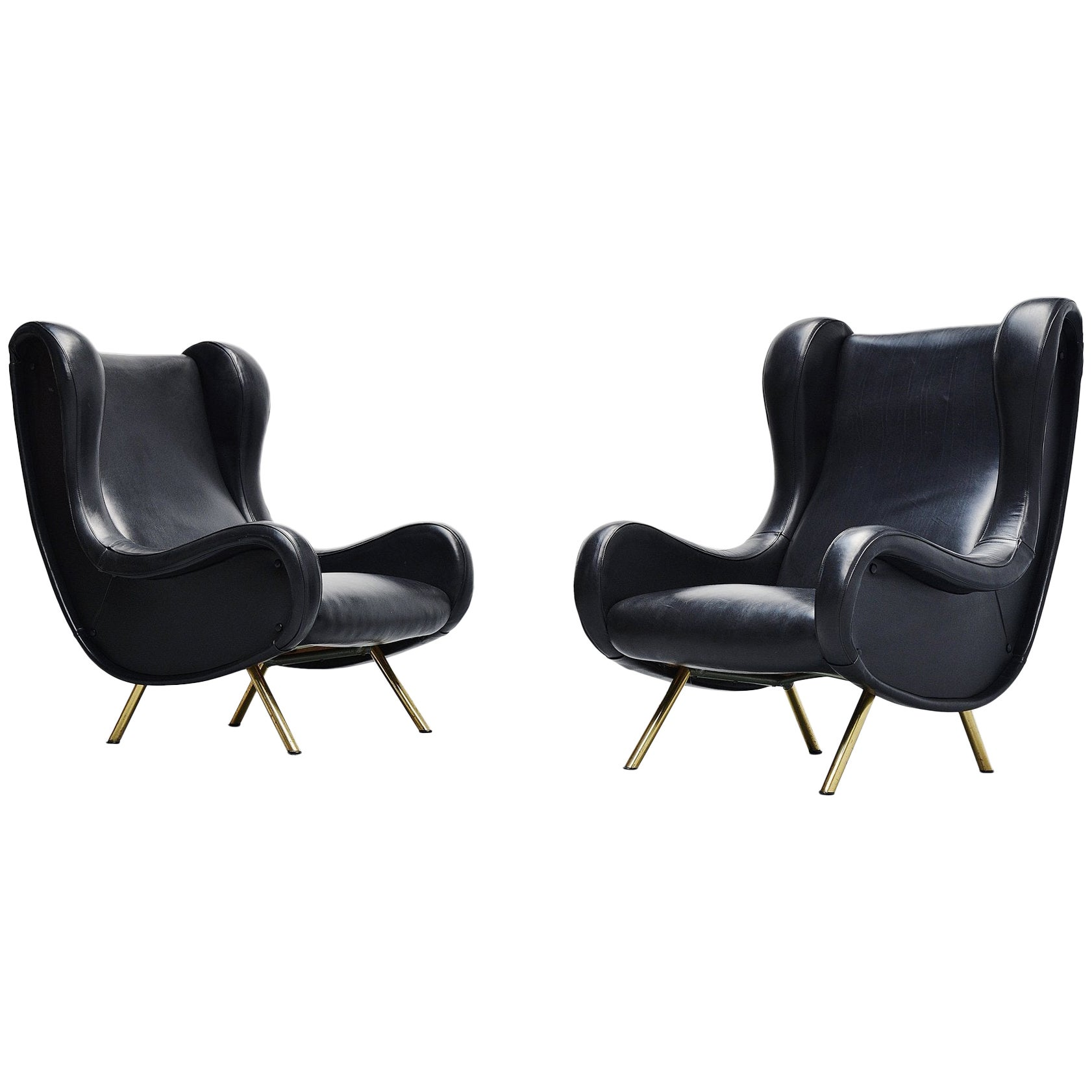 Marco Zanuso Senior Lounge Chairs Arflex, Italy, 1951