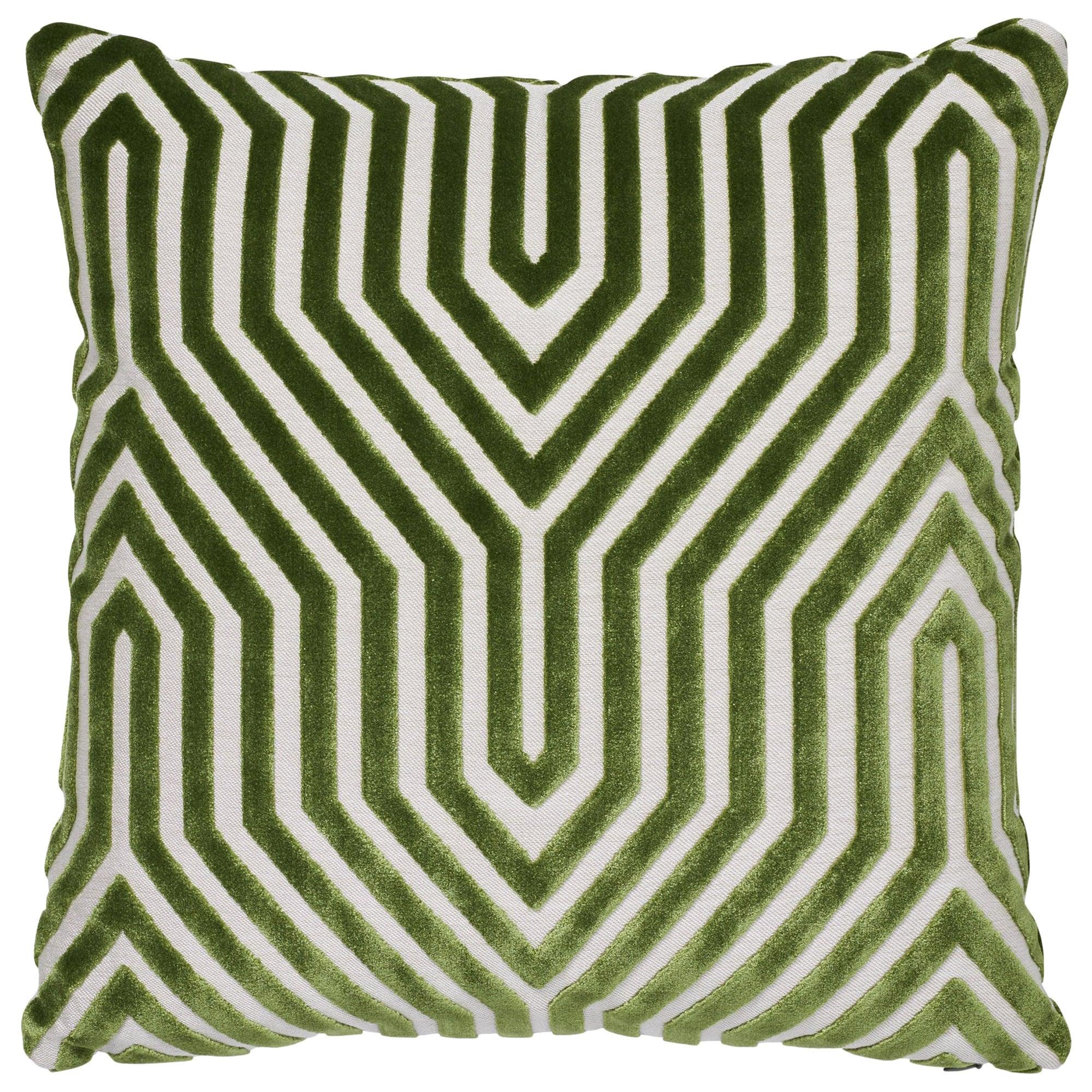 Schumacher Vanderbilt Velvet Lettuce Two-Sided Pillow