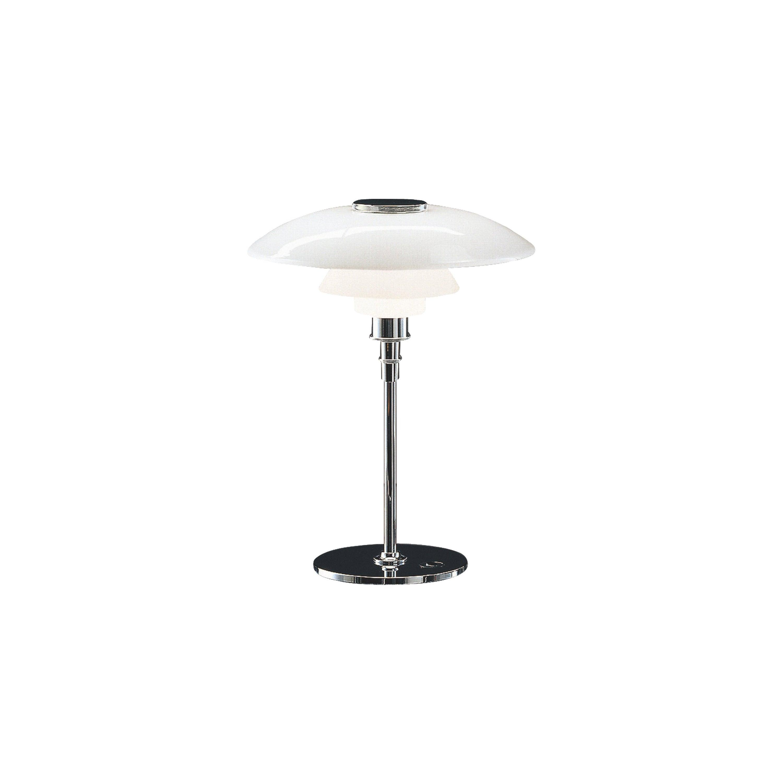 Louis Poulsen PH 4½-3½ Glass Table Lamp in Chrome by Poul Henningsen