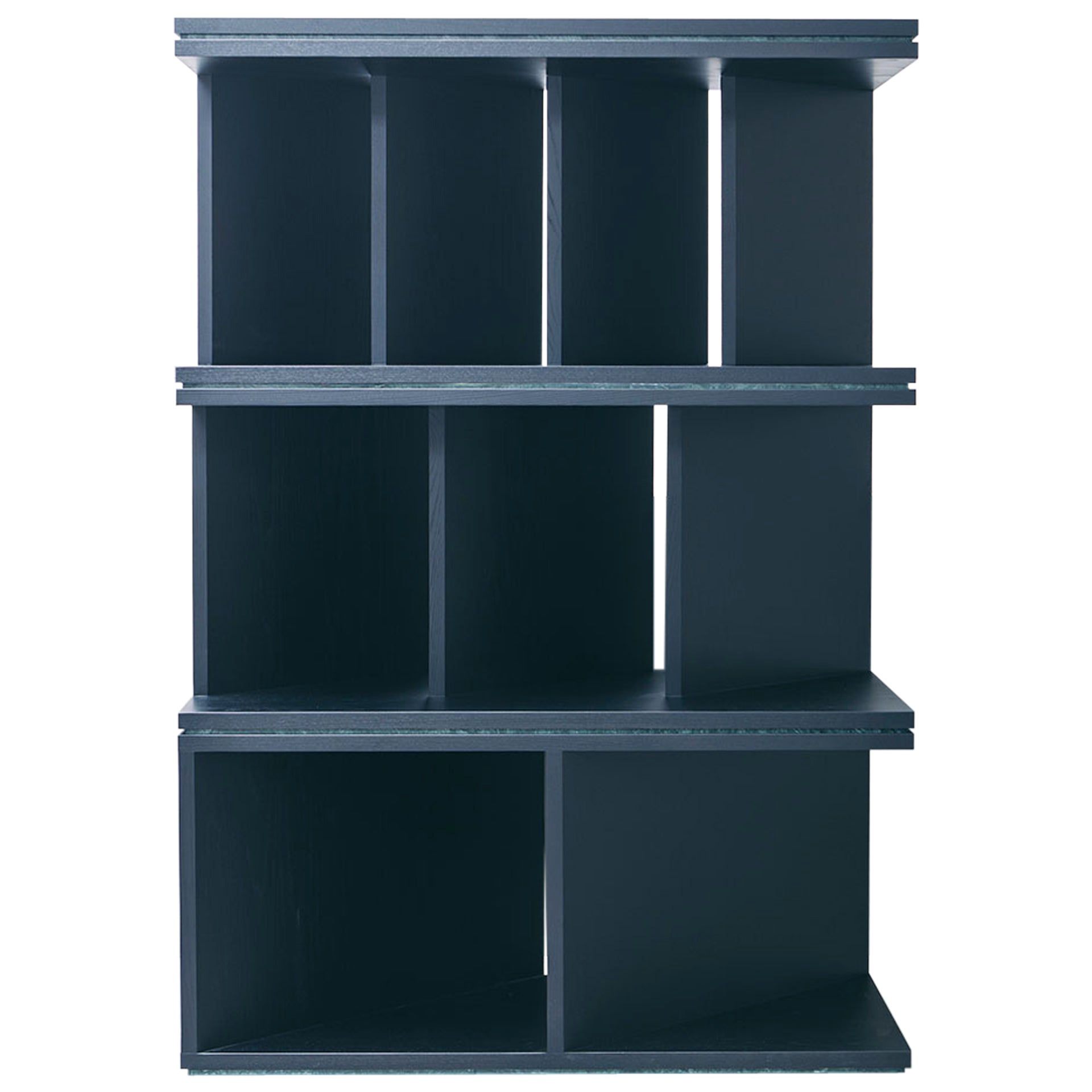 Black Ash Wood Room Divider and Bookcase, Oblique 01.1 by barh
